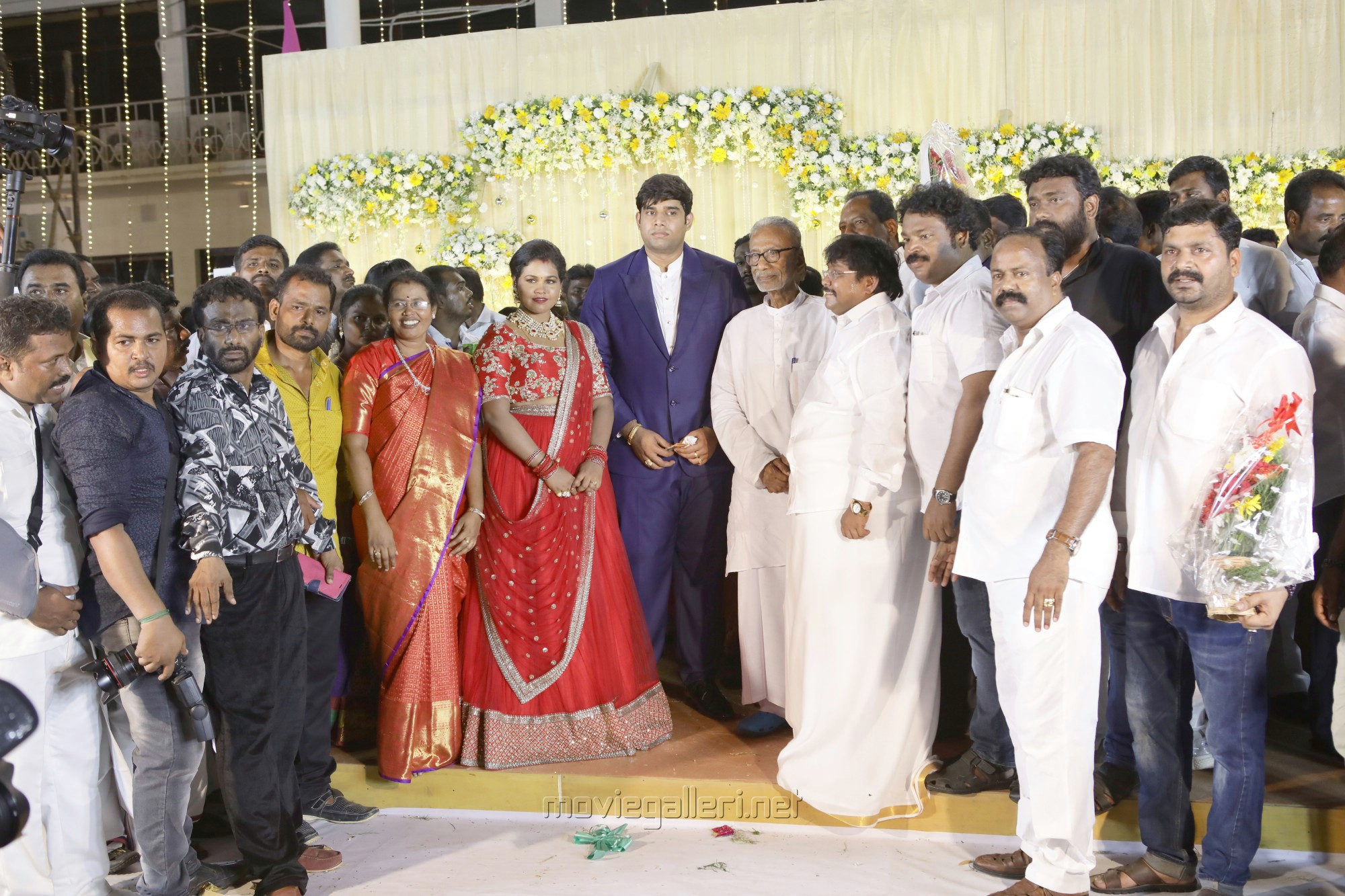 Pazha Nedumaran, V Gowthaman @ Salem RR Briyani Tamilselvan daughter Wedding Reception Stills