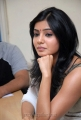 Actress Samantha New Cute Stills at SVSC Interview
