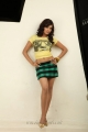 Samantha Hot in Yellow Top & Mini Trouser