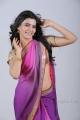 Actress Samantha Hot in Violet Saree Photo Shoot Stills