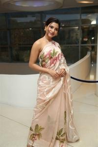 Actress Samantha New Saree Stills @ Jaanu Thanks Meet