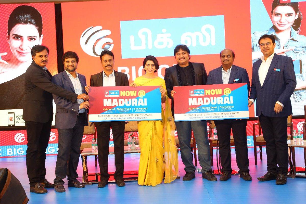 Actress Samantha Akkineni Launches Big C Mobile Showroom at Kalavasal, Madurai