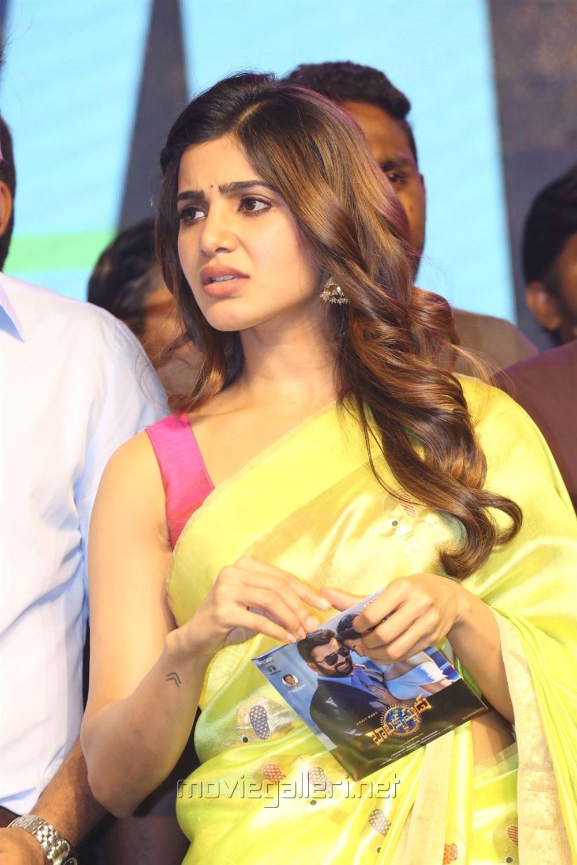 Actress Samantha Saree Photos @ Balakrishnudu Audio Release