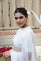 Actress Samantha in White Saree Photos @ Shakuntalam Movie Opening