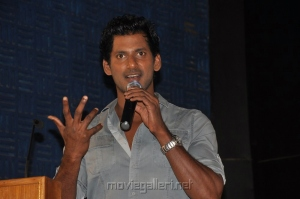 Actor Vishal Krishna at Samar Movie Success Meet Stills