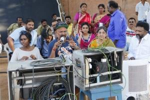 Actress Sana Althaf Photos in Chennai 28 2nd Innings Shooting Spot