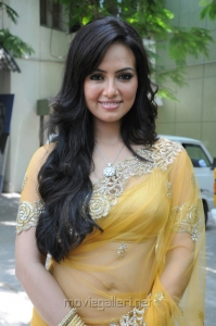 Tamil Actress Sana Khan Hot in Saree Images