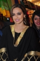 Actress Sana Khan Black Dress Photos @ Akritti Exhibition Launch