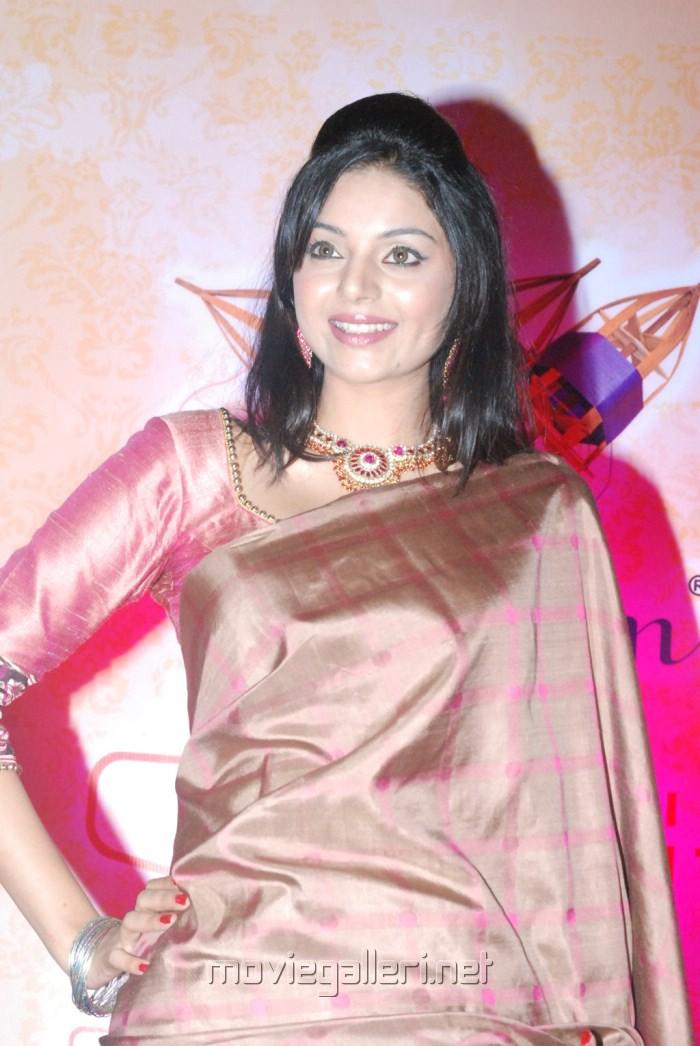 Sanam Shetty Hot in Saree Pics