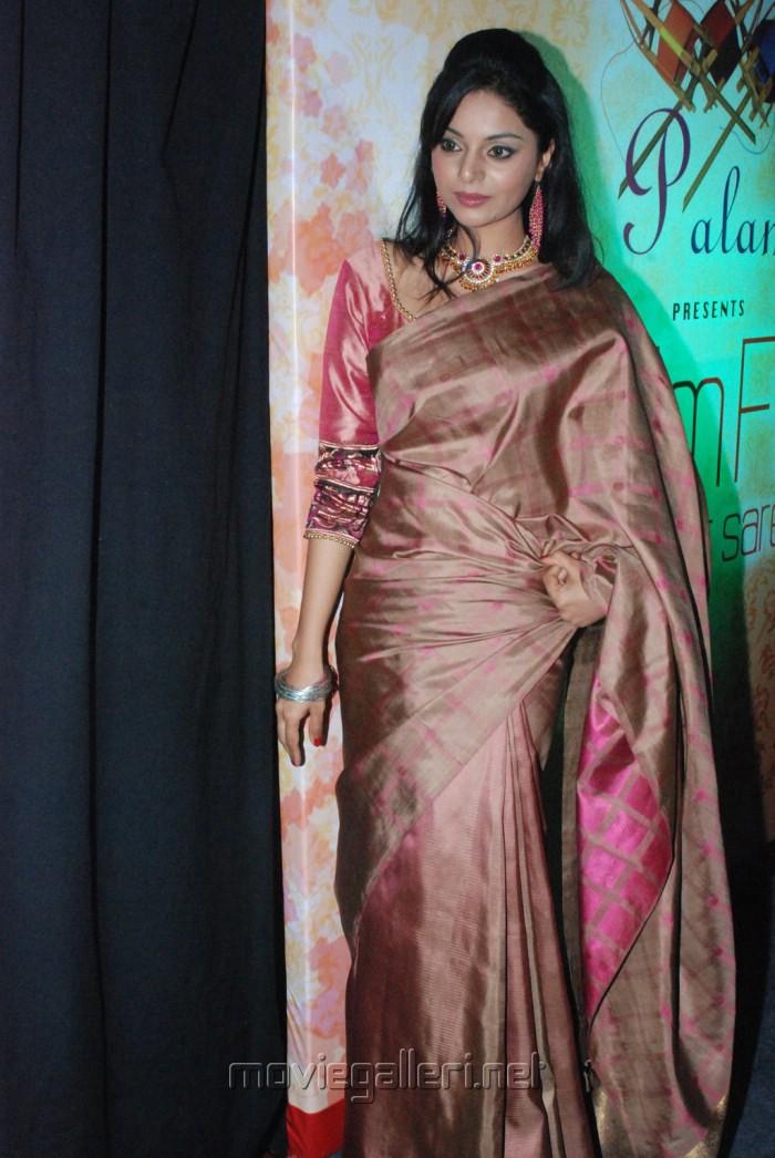 Tamil Actress Sanam Saree Photos