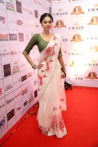 Actress Sanam Shetty Saree Photos @ Dadasaheb Phalke Awards South 2019 Red Carpet