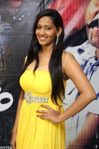 Actress Sanchana Singh in Yellow Dress Hot Stills