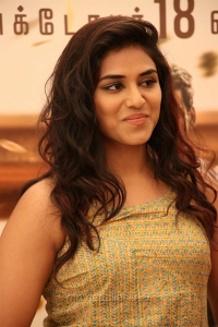 Actress Indhuja @ Sandakozhi 2 Celebrity Show Photos