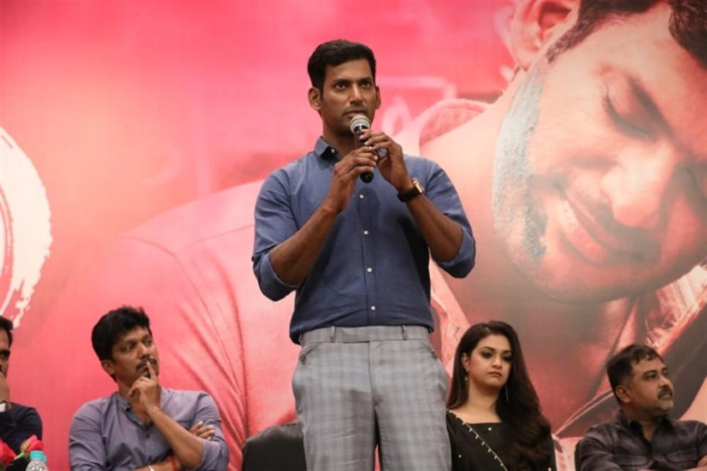 Actor Vishal @ Sandakozhi 2 Movie Press Meet Stills