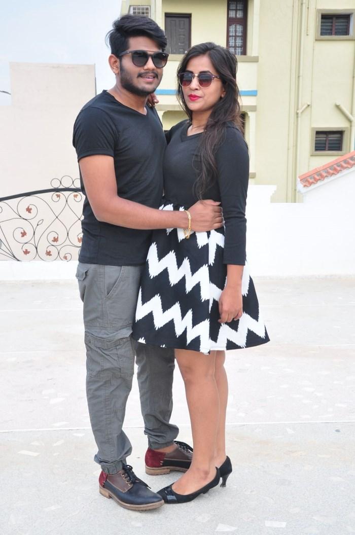 Sandeep & Komali @ Nenu Seethadevi On The Sets Photos
