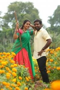 Nivetha Pethuraj, Vijay Sethupathi in Sanga Thamizhan Movie Stills HD