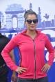 Sania Mirza in Pink Jogging Suit Hot Photos