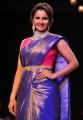 Sania Mirza Photos in Blue & Gold Kanjeevaram Saree