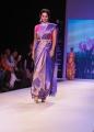 Sania Mirza Photos in Blue Saree @ IIJW 2015 Fashion Show