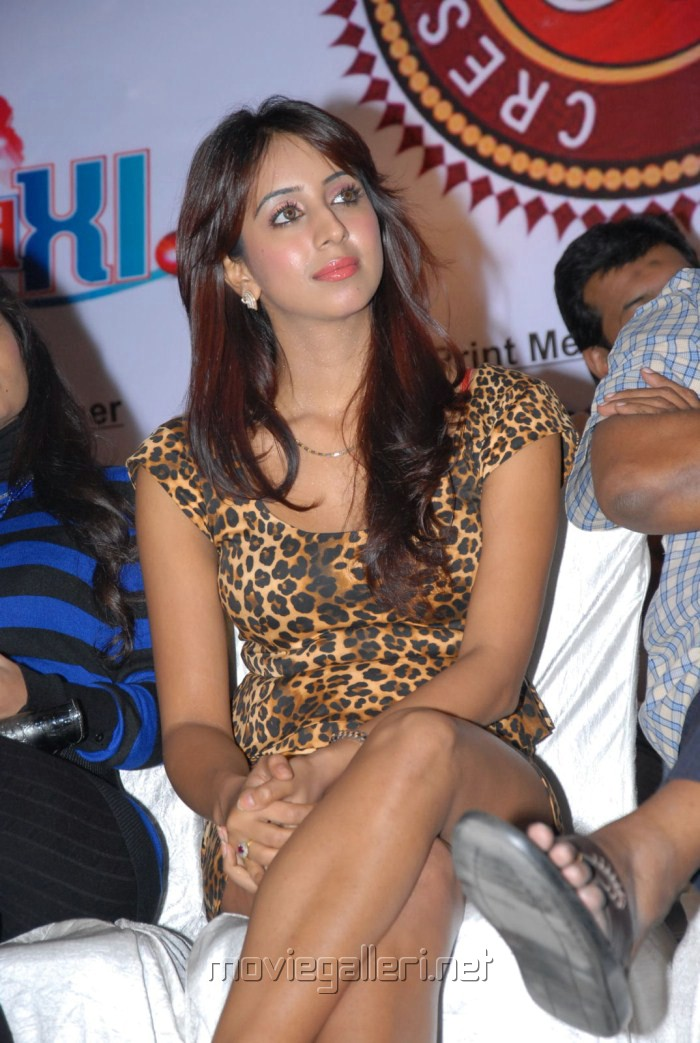 Telugu Actress Sanjana Latest Hot Stills in Tiger Skin Dress