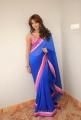 Telugu Actress Sanjana Galrani Hot in Blue Saree Stills