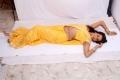 Actress Sanjana in Yellow Saree Hot Stills