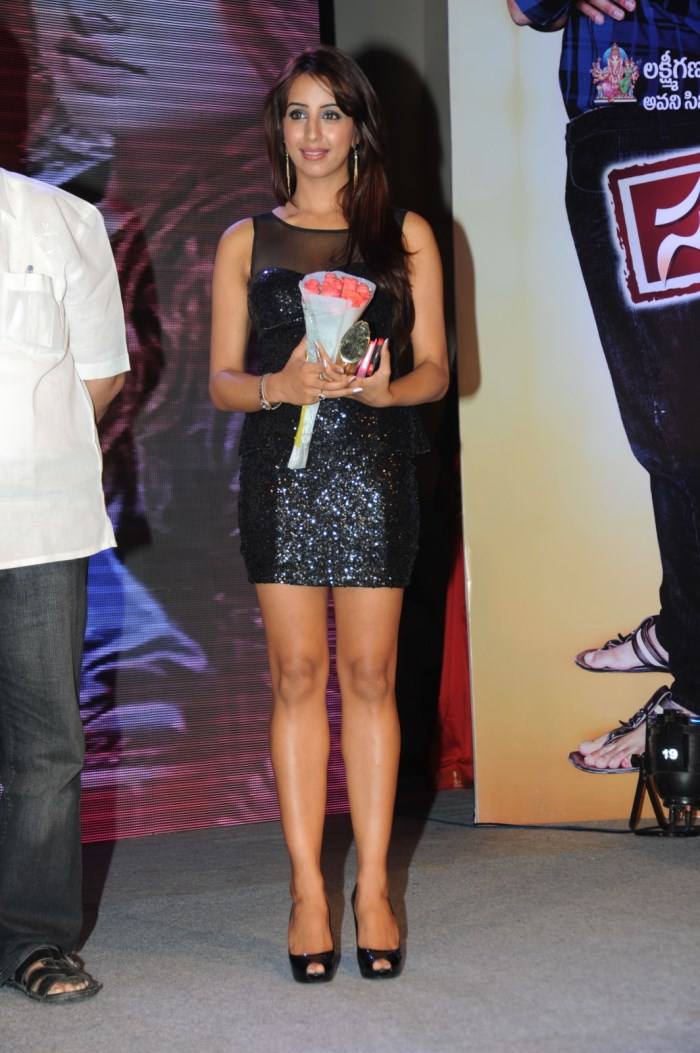 Actress Sanjjanaa Hot Stills in Black Dress