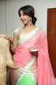 Actress Sanjjanaa Pink & Green combination Half Saree Stills