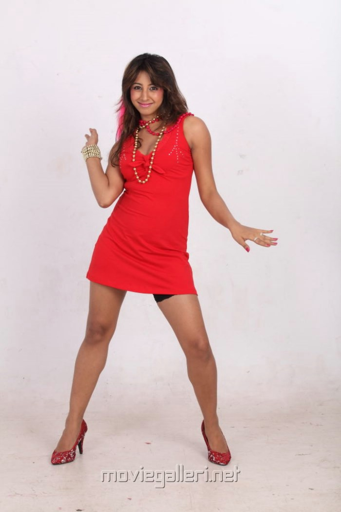 Picture 531945 | Actress Sanjana Hot in Short Red Skirt Photoshoot ...