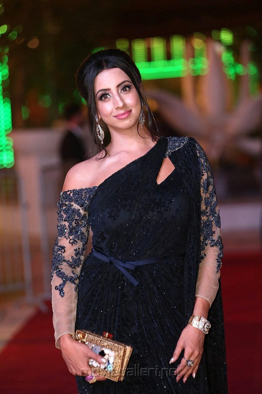 Actress Sanjjanaa Photos @ SIIMA Awards 2018 Red Carpet (Day 1)