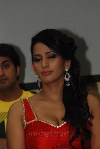 Sanjana Singh Hot in Yaarukku Theriyum Audio Launch