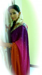 Tamil Actress Sanjana Singh in Saree Stills