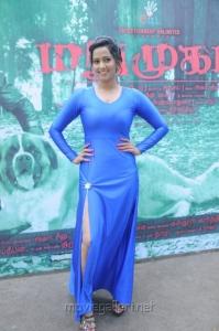 Actress Sanjana Singh Images in Tight Blue Dress