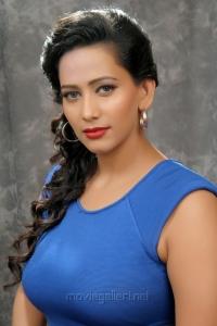 Sanjana Singh Latest Hot Photo Shoot Pics in Blue Dress