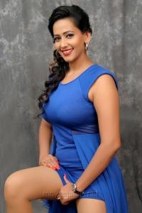 Actress Sanjana Singh Hot Blue Dress Photo Shoot Pics