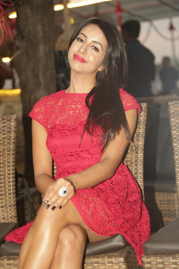 Actress Sanjjanaa at 31-12 NYE 2016 Curtain Raiser