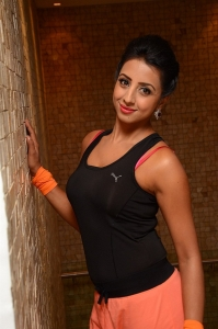Actress Sanjjanaa Photos @ World Yoga Day Celebrations