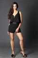 Actress Sanjjanaa Galrani Black Dress Hot Photo Shoot Images