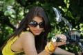 Hot Sarah Sharma in Yellow Mini Frocks