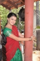 Saranya Mohan in Traditional Saree at Thaandavam Shooting Spot Pics