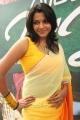 Actress Saranya Nag Hot in Yellow Transparent Saree with Sleeveless Blouse