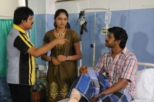 Vivek, Arundhati, Karl Marx in Saravana Poigai Tamil Movie Stills