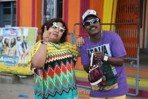 Aarthi Ganeshkar, Karunas in Saravana Poigai Tamil Movie Stills