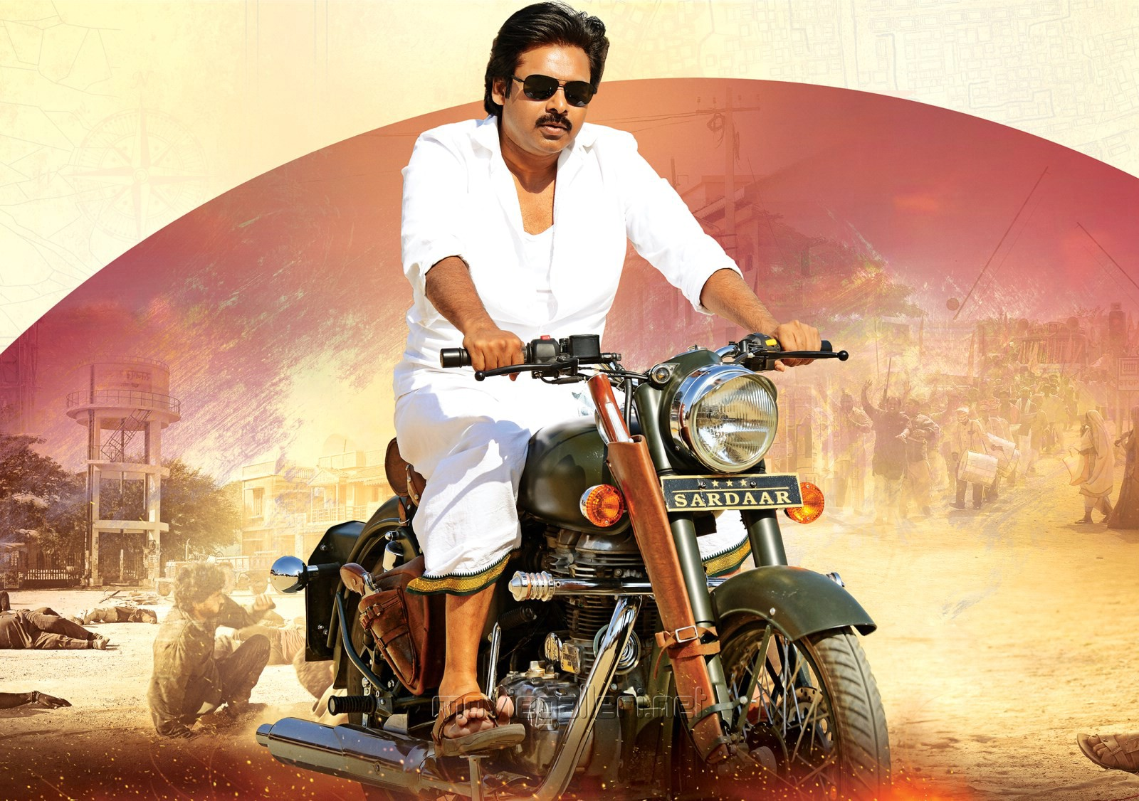hd background sardaar gabbar singh movie pawan kalyan actor poster