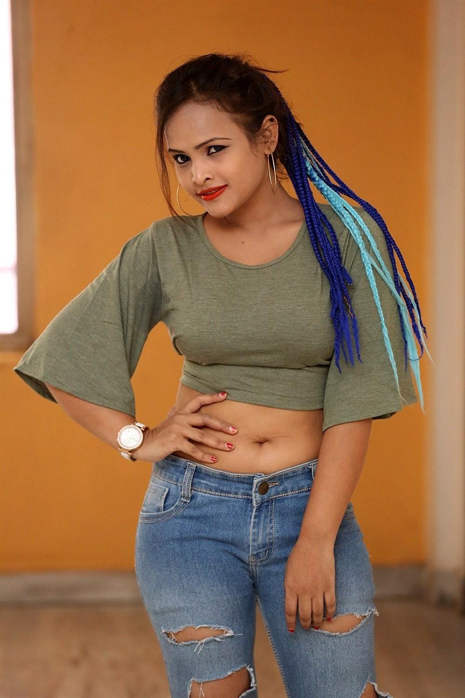 Actress Saritha Musuku Stills @ Burrakatha Teaser Launch