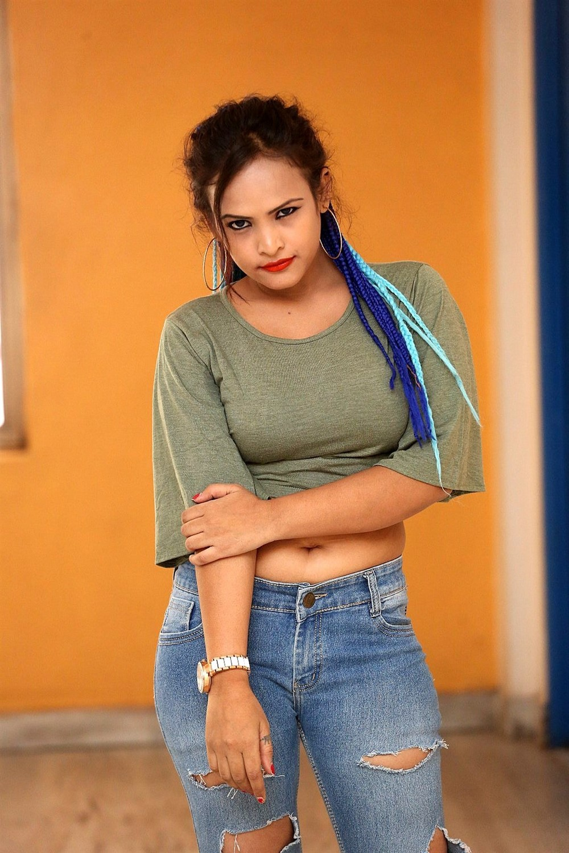 Actress Saritha Musuku Stills @ Burra Katha Teaser Launch