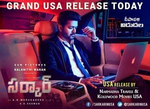 Vijay Sarkar Grand USA Release Today Posters