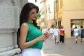 Sarocharu Kajal Agarwal Hot Images in Cyan Top & White Skirt