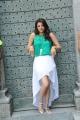 Actress Kajal Agarwal Hot Images in Bright Cyan Top & White Skirt