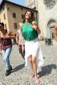 Sir Vachaaru Kajal Agarwal Hot Images in Cyan Top & White Skirt